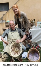leghorn June 5, 2016: t-wine, review of Tuscan wine, Sarah Ferguson and other Vips to Casone Ugolino; pictured Sarah Ferguson and taxidermist. June 5, 2016, Castagneto Carducci (Livorno), Italy