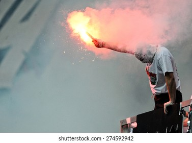 Legia Warsaw football fans