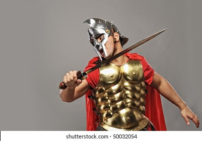 Legionary soldier ready for a fight