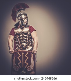 Legionary soldier with shield