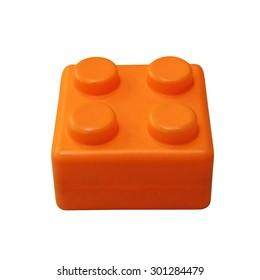 Lego isolated on white background