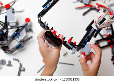 Lego Robot Mindstorms EV 3 Child Collects Stock Photo (Edit Now