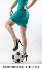 Legs of an attractive soccer mom