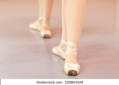 Legs of ballet dancers  who is standing