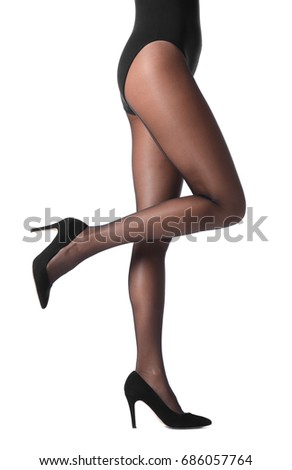 2bcb79321 Legs Beautiful Young Woman Black Tights Stock Photo (Edit Now ...