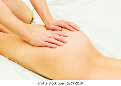 Legs and buttocks woman massage