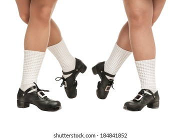 Legs in hard shoes for irish dancing