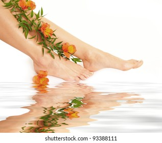Legs isolated on water
