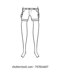 Legs outline illustration