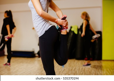 legs stretching close up. Fitness stretching