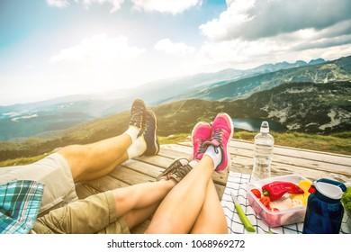 Legs of traveler family
