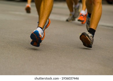 legs when running or jogging, outdoor sports and physical exercise