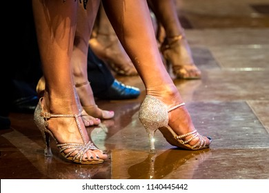 legs of woman dancing latin dance