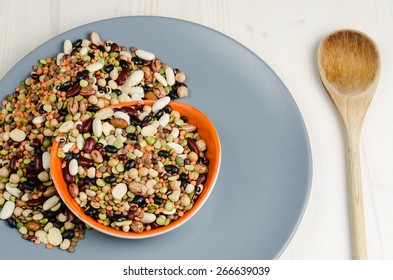 legumes in a dish,  close up, background