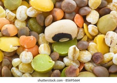legumes mix close up texture