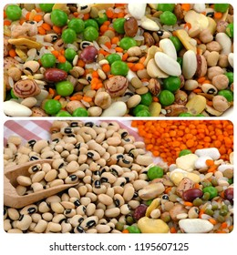 Legumes Natural Raw Mix Food Collage
