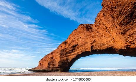 Legzira Beach Atlantic Ocean Morocco Stone Bridge