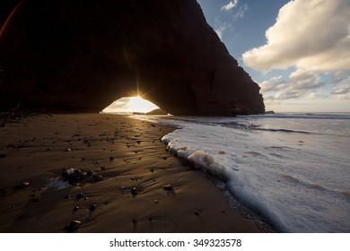 Legzira beach, Atlantic ocean coast in Marocco.