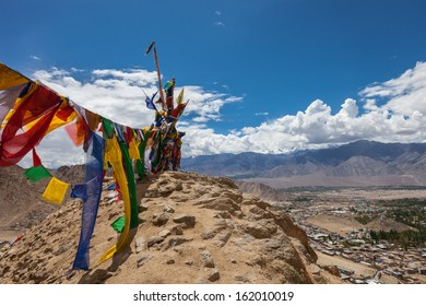 Leh city is located in the Indian Himalayas at an altitude of 3500 meters