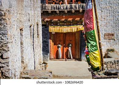 LEH INDIA - October 2017 Chandazik gompa Buddhist temple in Leh Ladakh & Buddhist Door Images Stock Photos \u0026 Vectors   Shutterstock