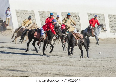 LEH, INDIA - SEPTEMBER 22, 2017: Polo much during the Ladakh Festival in Leh India on September 20, 2017