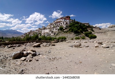 Leh, Jammu and Kashmir - August 2014: The Thiksey monastery in Leh resemblance the Patola Palace in Beijing China.