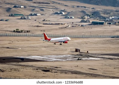 Leh, Jammu and Kashmir, India - June 26, 2011 : Air India VT-EPH, about to land at Leh