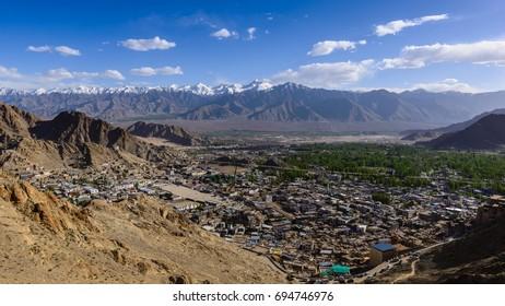 Leh village, leh ladakh, india