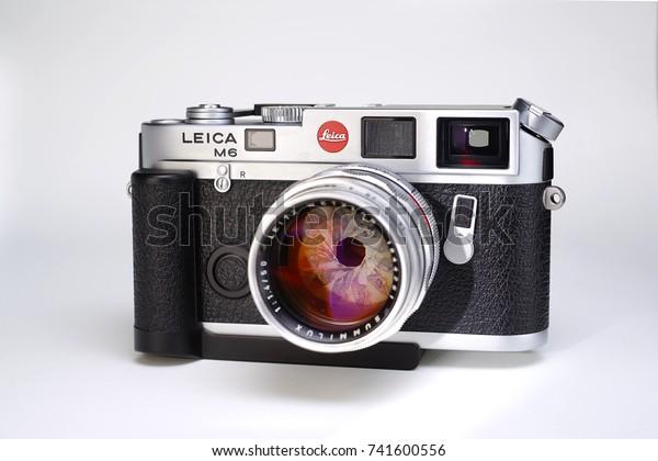 Leica Silver Rangefinder Film Camera Most Stock Photo (Edit Now