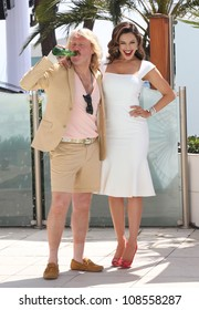 Leigh Francis (as Keith Lemon) and Kelly Brook at the 'Keith the Movie' photocall Cannes, France. 19/05/2012 Picture by: Henry Harris / Featureflash