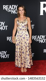 Leighton Meester at the Los Angeles screening of 'Ready Or Not' held at the ArcLight Cinemas in Culver City, USA on August 19, 2019.