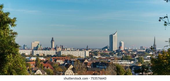 Leipzig City Skyline