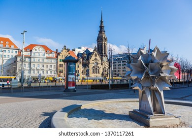 LEIPZIG, GERMANY - CIRCA MARCH, 2018:  The city scape of Leipzig town in Germany