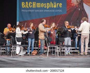 LEIPZIG, GERMANY - JUNE 14, 2014: Bachfest is an annual summer music festival celebrating baroque musician Johann Sebastian Bach in his town