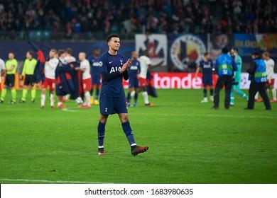 Leipzig, Germany - March 20, 2020: Dele Bamidele Jermaine Alli during the match Leipzig vs Tottenham at Leipzig Arena before