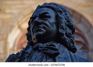 Leipzig, Germany - March 3, 2018: Statue of Johann Sebastian Bach