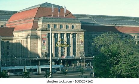 LEIPZIG, GERMANY - MAY 1, 2018. Promenaden Hauptbahnhof or Central railway station shopping mall