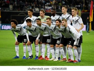 Leipzig, Germany - November 15, 2018. German national team before international friendly Germany vs Russia in Leipzig.