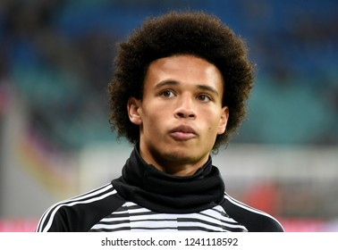 Leipzig, Germany - November 15, 2018. German winger Leroy Sane before international friendly Germany vs Russia in Leipzig.
