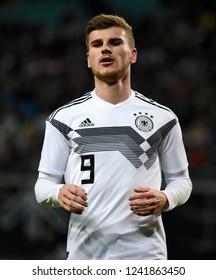 Leipzig, Germany - November 15, 2018. German striker Timo Werner during international friendly Germany vs Russia in Leipzig.
