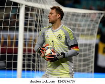 Leipzig, Germany - November 15, 2018. Germany national team goalkeeper Manuel Neuer during international friendly Germany vs Russia in Leipzig.