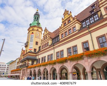 LEIPZIG, GERMANY - SEP 22: The Old City Hall in Leipzig, Germany on September 22, 2013. Leipzig is the largest city in the federal state of Saxony, Germany.