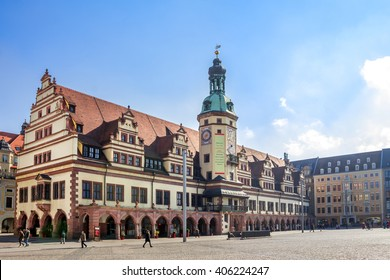 Leipzig, Old, Townhall, Market,