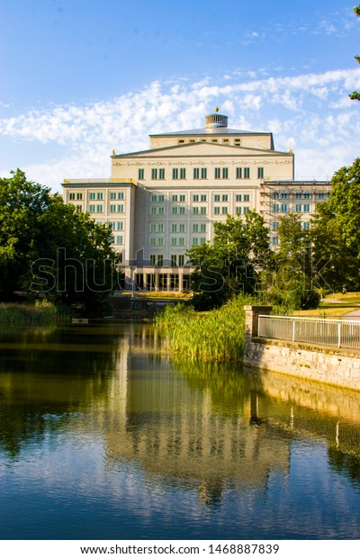 Leipzig Opera Opera House Opera Company Buildings Landmarks Stock Image 1468887839