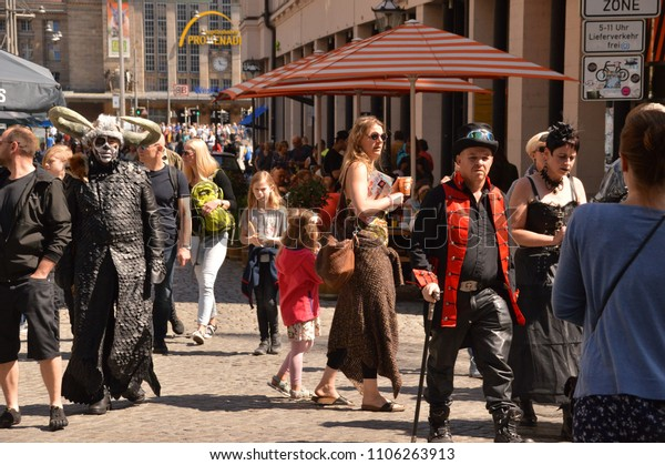 Leipzig Saxonia Germany May 2018 Wgt People Stock Image 1106263913