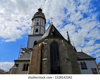 Leipzig,Germany - August 16, 2019:St. Thomas church is a Lutheran church in Leipzig, here is home to the remains of composer Johann Sebastian Bach, who once worked as the church's music director.