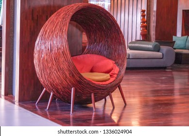 Leisure chair at lobby in hotel.