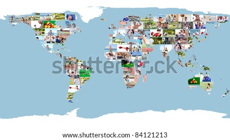 Leisure Sport Images Forming World Map Stock Photo Edit Now