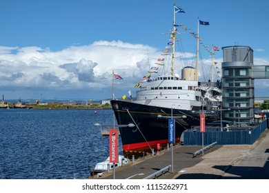 Leith Edinburgh, Scotland UK - 07/30/2016: Royal Yatch