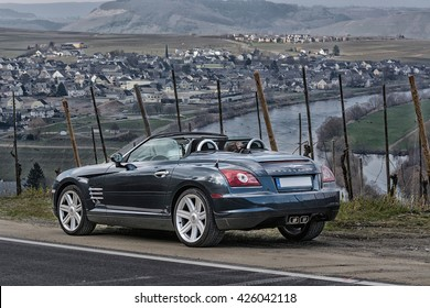 LEIWEN, GERMANY   MARCH 26, 2016: Chrysler Crossfire On The Panorama Trail  In